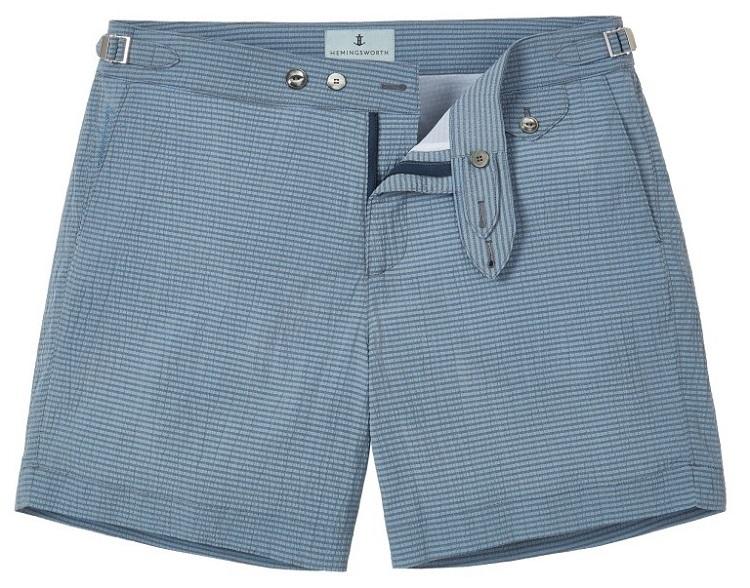 badebukser badeshorts blå til mænd