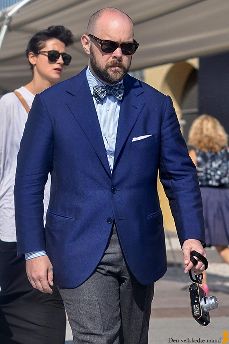 blå jakke herremode