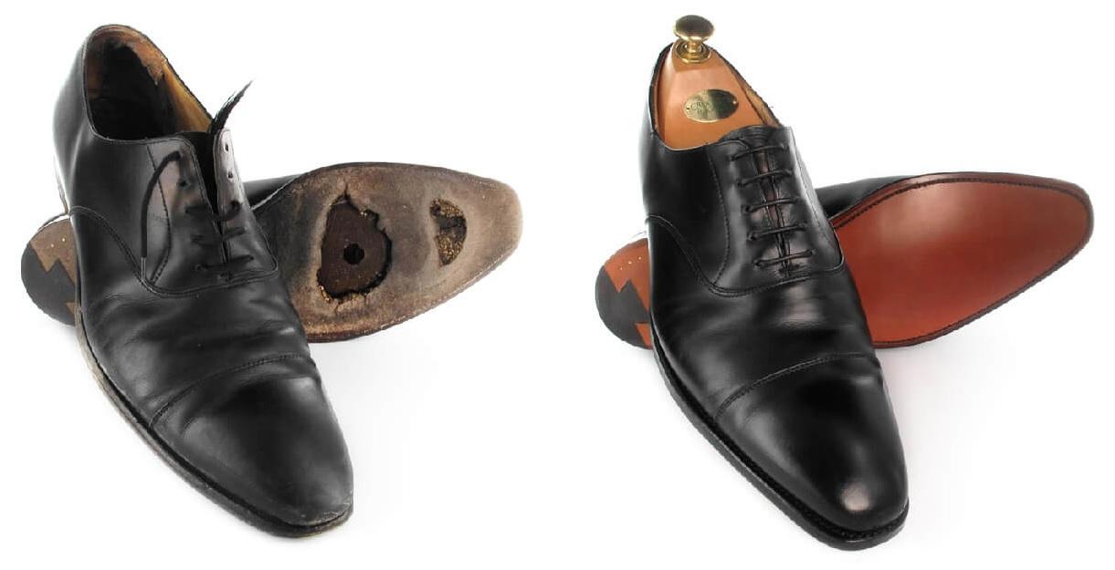ny sål på randsyede sko