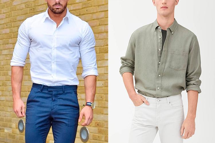 rummelig herreskjorte