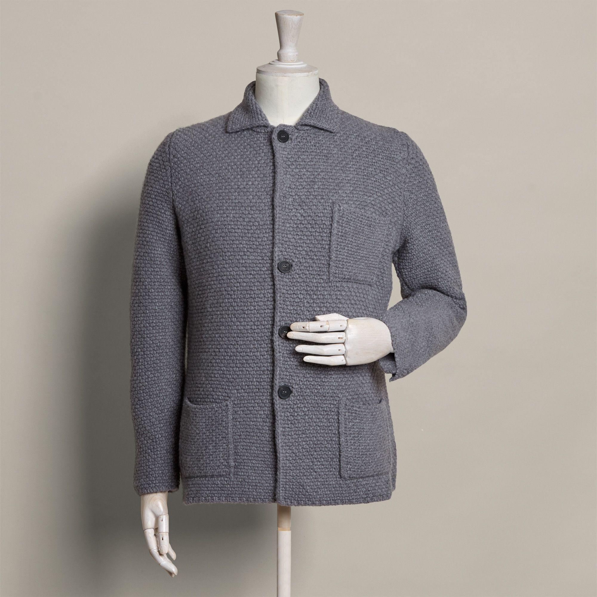 strikket jakke herre