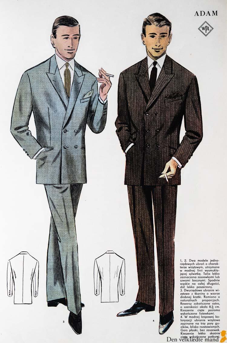 dobbeltradede jakkesæt