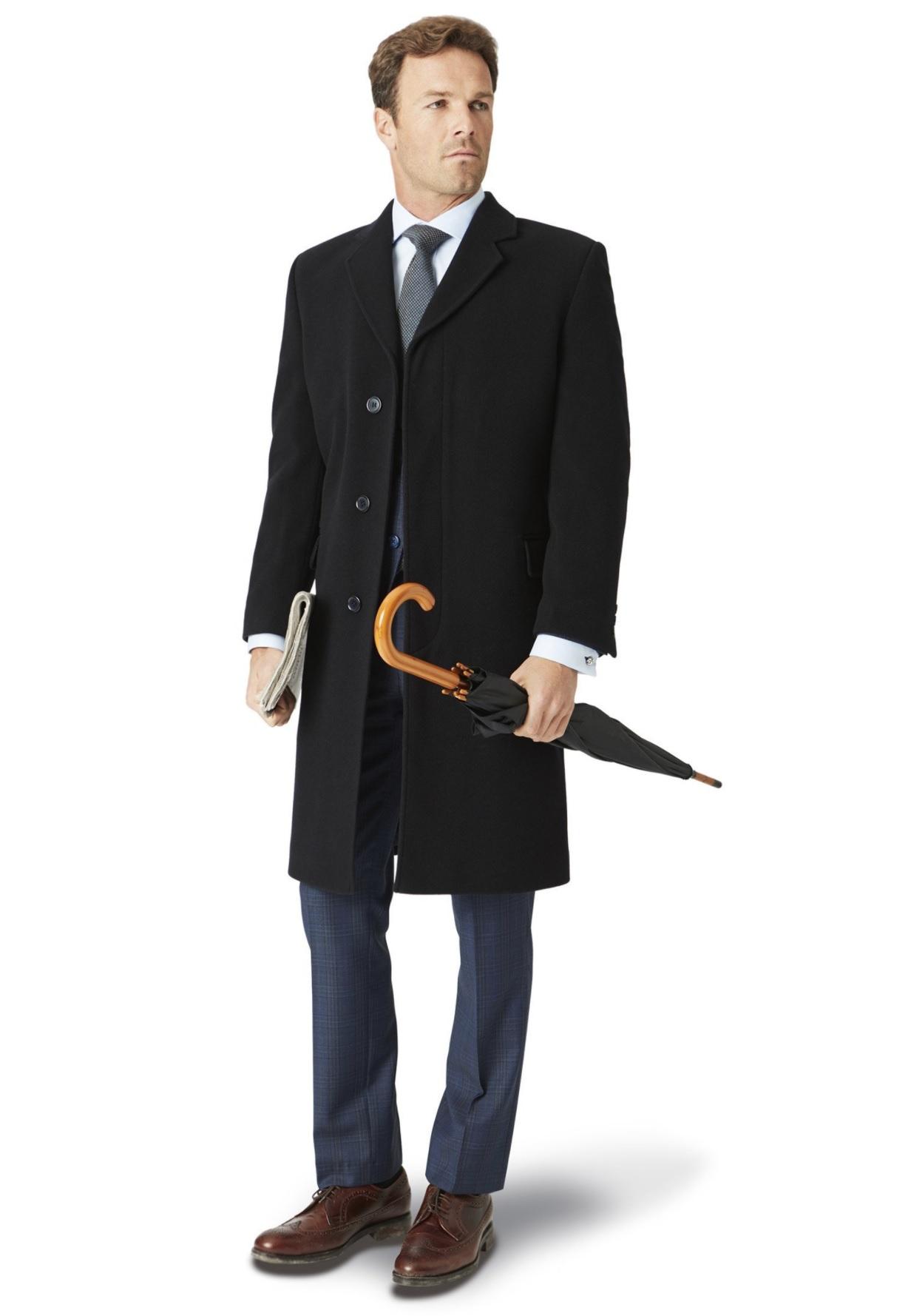 pæn uldfrakke til mænd