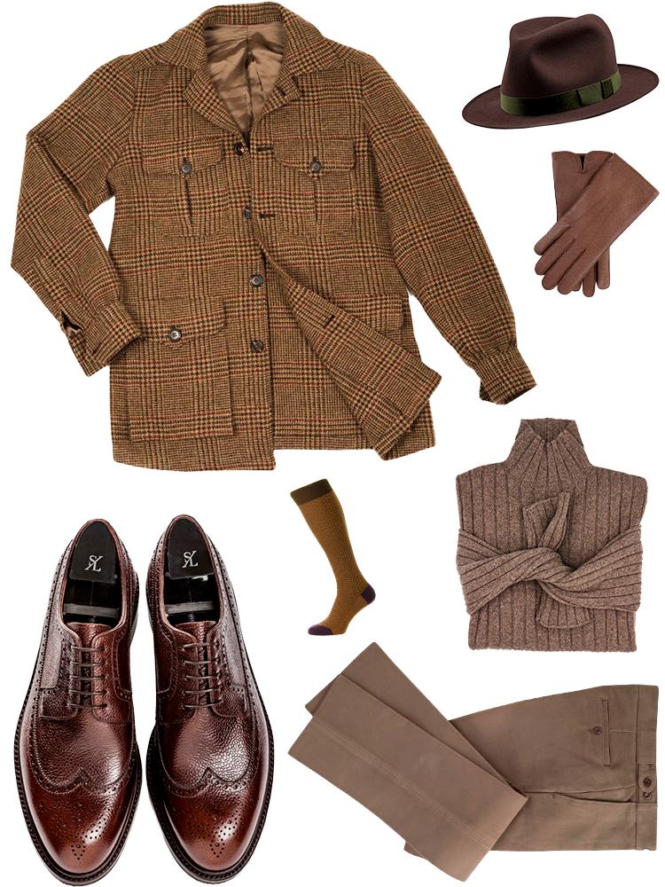 brunt tøj til mænd
