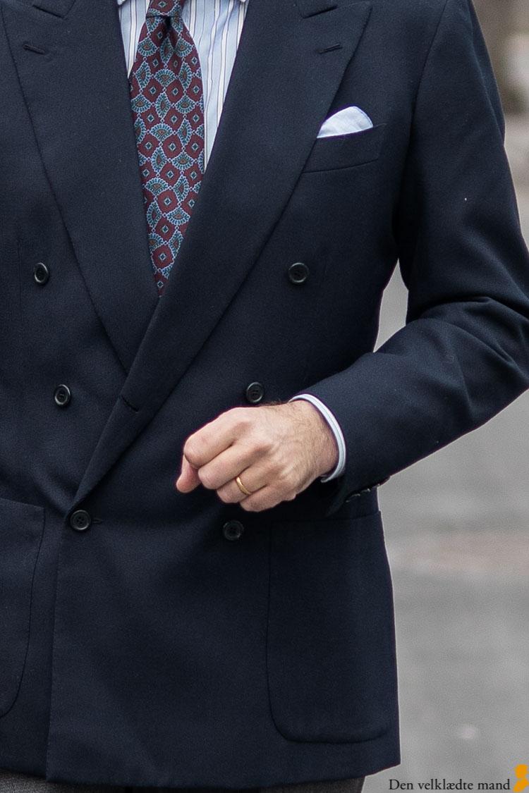 dobbeltradet jakke