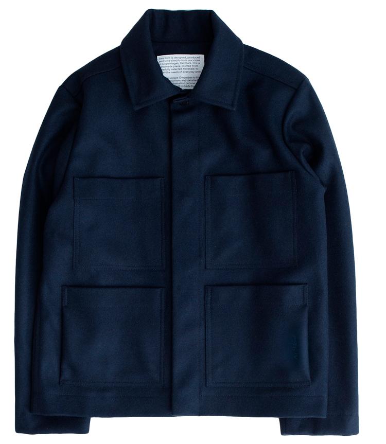 kort jakke til mænd uld ready-to-wear