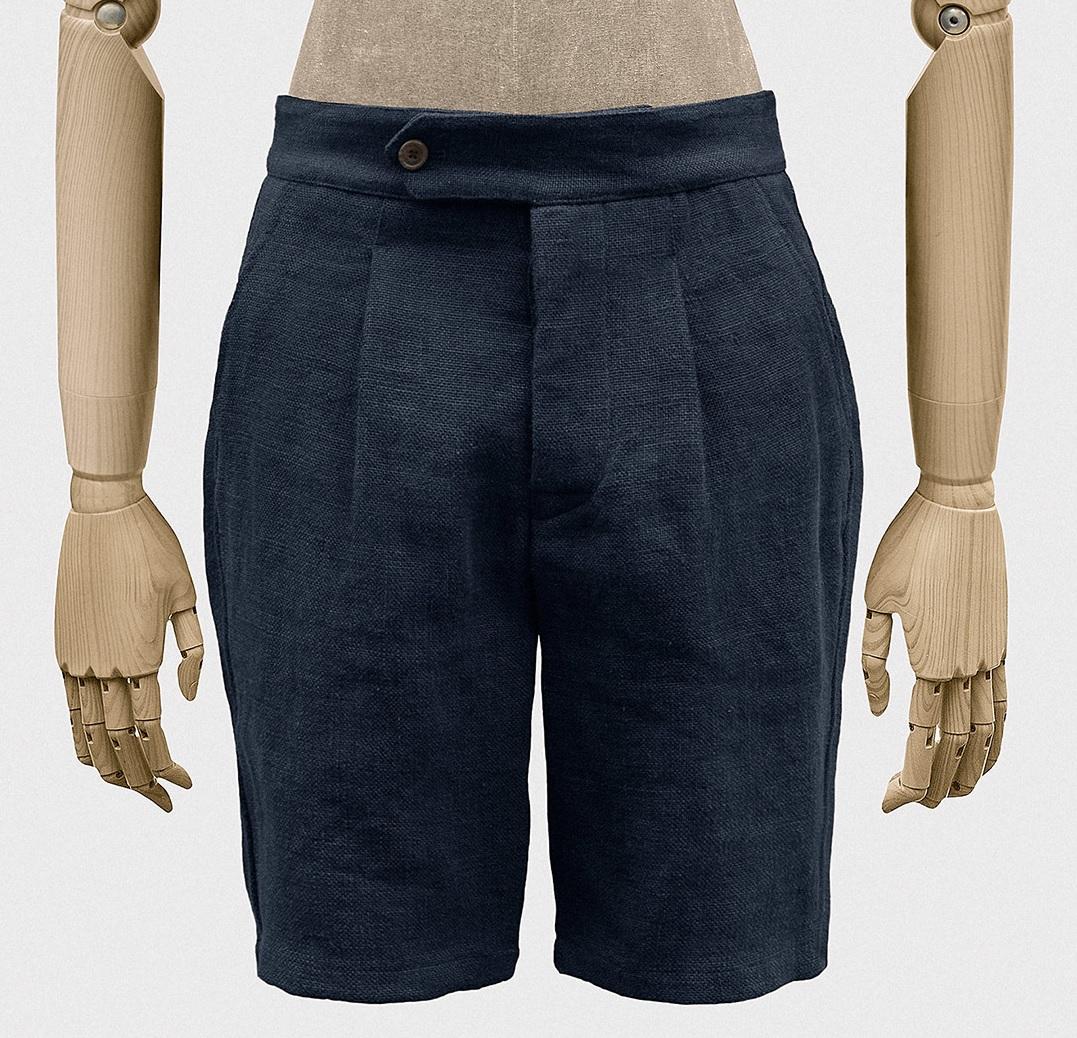 blå herre shorts