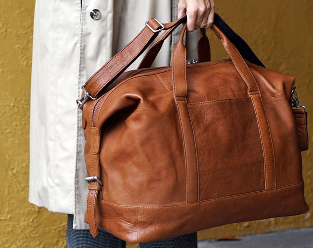 læder rejsetaske