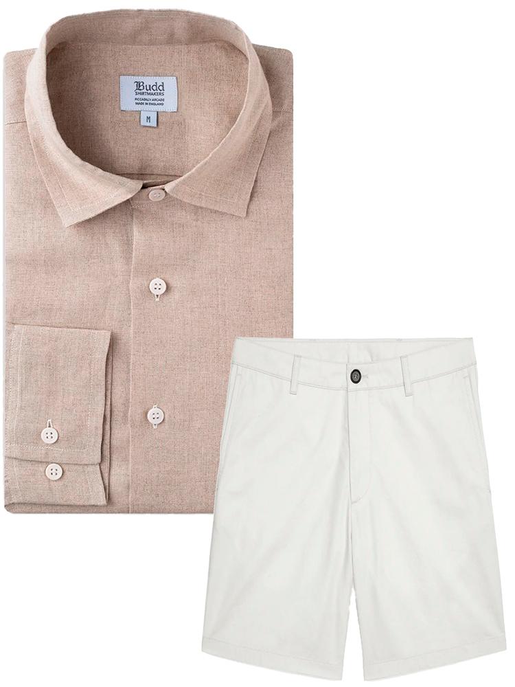 Sæt tøj sammen som mand skjorte og shorts