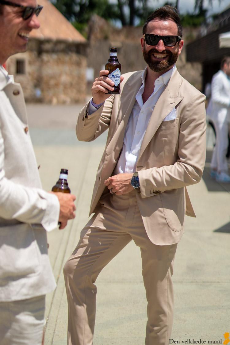 hvidt sommertøj pitti uomo