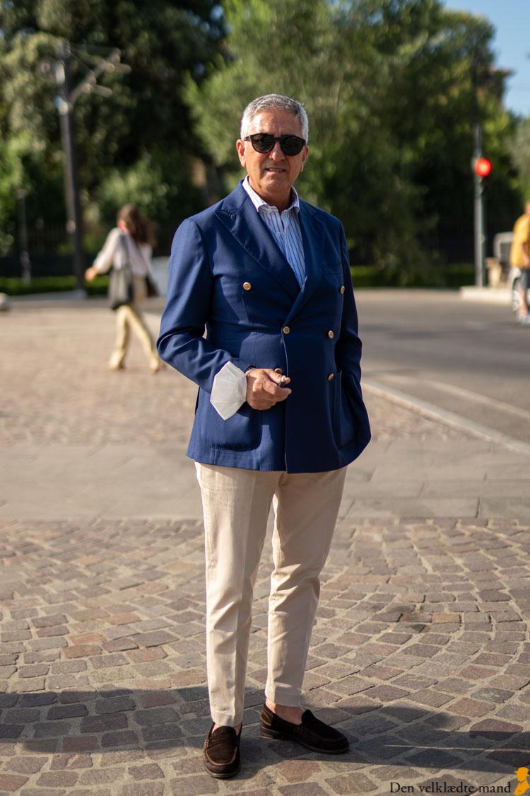 blå blazer pitti uomo stil firenze